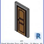 Familias para Revit | 38 Puertas de 1 hoja | 071 Puerta del panel de madera y con relleno Ex Macau .rfa