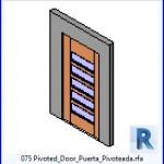 Familias para Revit | 38 Puertas de 1 hoja | 075 Puerta Puerta pivotante Pivoteada .rfa