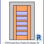 Familias para Revit | 38 Puertas de 1 hoja | 076 Pivotado Puerta Puerta Pivoteada .rfa