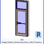 Familias para Revit   38 Puertas de 1 hoja   093 individual exterior de la puerta de aluminio con el travesaño .rfa
