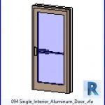 Familias para Revit   38 Puertas de 1 hoja   094 Individual lntenor aluminio Puerta .rfa