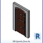 Familias para Revit | 38 Puertas de 1 hoja | 096 Español Door .rfa