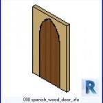 Familias para Revit | 38 Puertas de 1 hoja | 098 puerta de madera españoles .rfa