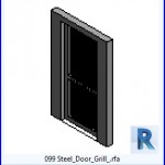 Familias para Revit | 38 Puertas de 1 hoja | 099 Puerta de acero Grill .rfa