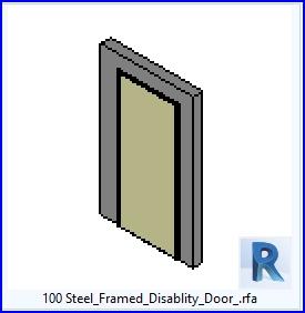 100 Acero Jramed Disablity Puerta .rfa