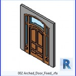 Familias para Revit | 39 Puertas de 2 hojas | 002 fijos en la puerta arqueada  .rfa