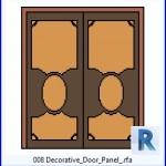 Familias para Revit | 39 Puertas de 2 hojas | 008 Panel decorativo Puerta .rfa