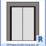 Familias para Revit | 39 Puertas de 2 hojas | 009 Doble Grado oscilacion puerta .rfa