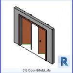 Familias para Revit | 39 Puertas de 2 hojas | 013 Puerta plegable .rfa
