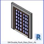 Familias para Revit | 39 Puertas de 2 hojas | 044 de doble descarga la puerta de cristal .rfa