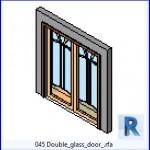 Familias para Revit | 39 Puertas de 2 hojas | 045 cristal de la puerta doble .rfa