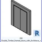 Familias para Revit | 39 Puertas de 2 hojas | 050 enmarcadas de la madera puertas dobles con Architrave .rfa