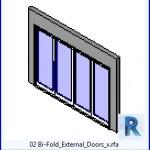 Familias para Revit | 41 puertas de 4 hojas | 02 Bi Fold x .rfa puertas exteriores