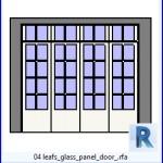 Familias para Revit   41 puertas de 4 hojas   04 hojas de vidrio del panel de la puerta .rfa
