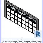 Familias para Revit | 43 puertas de garaje | 01 Overhead la puerta del garage del carro Diseño Rueda .rfa