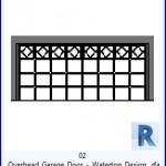 Familias para Revit | 43 puertas de garaje | 02 de arriba de la puerta del garage Waterton Diseño .rfa