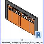 Familias para Revit | 43 puertas de garaje | 04 Craftsman carro Estilo Garaje Puerta con superior curvada .rfa