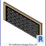 Familias para Revit   43 puertas de garaje   05 Craftsman puerta de garaje .rfa