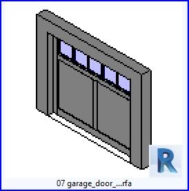 Familias para revit 43 puertas de garaje 07 puerta de for Losas para garajes