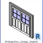 Familias para Revit   43 puertas de garaje   08 Garaje Puerta del carro Single .rfa
