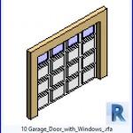 Familias para Revit | 43 puertas de garaje | 10 puerta de garaje con Windows .rfa