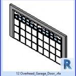 Familias para Revit | 43 puertas de garaje | 12 de arriba de la puerta del garage .rfa