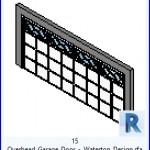 Familias para Revit | 43 puertas de garaje | 15 de arriba de la puerta del garage Waterton Design .rfa