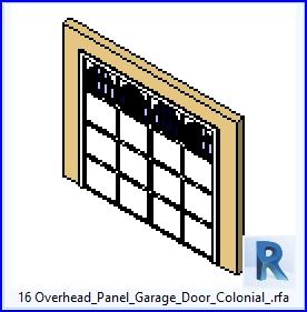 Familias Para Revit 43 Puertas De Garaje 16 Overhead