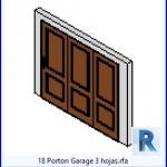 Familias para Revit | 43 puertas de garaje | 18 Garaje Porton 3 hojas .rfa