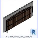 Familias para Revit | 43 Puertas de garaje | 20 Madera español Garaje Dorr .rfa