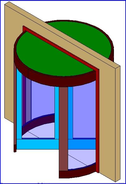 Familias Para Revit 45 Puertas Giratorias 01 Puertas