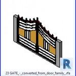 Familias para Revit | 46 puertas varios | 23 GATE convierte de familia de puertas .rfa