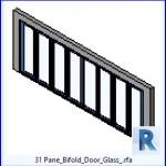 Familias para Revit | 46 puertas varios | 31 de panel plegable para puertas de vidrio .rfa