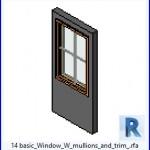 Familias para Revit | 48 ventanas de 1 hoja | 14 montantes basicos ventana W y recortar .rfa