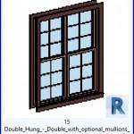 Familias para Revit | 49 ventanas de 2 hojas | 15 Doble Doble Hung con montantes opcionales .rfa