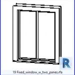Familias para Revit | 49 ventanas de 2 hojas | 19 Ventana fija w dos panes .rfa
