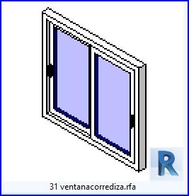 Familias para Revit | 49 ventanas de 2 hojas | 31ventanacorrediza .rfa