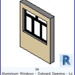 Familias para Revit   54 Ventanas Varios   04 Carpinteria de Aluminio abertura exterior Bajo y Alto .rfa