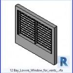 Familias para Revit | 54 Ventanas Varios | 12 Bay Lowre Wlndow para los respiraderos . .rfa