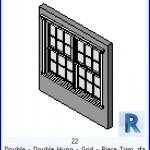 Familias para Revit | 54 Ventanas Varios | 22 Doble Doble abertura cuadricula el borde decorativo .rfa