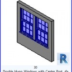 Familias para Revit | 54 Ventanas Varios | 30 Doble abertura de Windows con el puesto central .rfa
