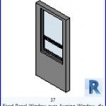 Familias para Revit | 54 Ventanas Varios | 37 Panel de ventana fija sobre Toldo Ventana .rfa