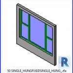 Familias para Revit | 54 Ventanas Varios | 50 SIMPLE HUNGFIXEDSINGLE HUNG .rfa
