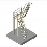 Familias para Revit | 56 Varios | 0016 Alterna la banda de rodadura de la escalera industrial  .rfa