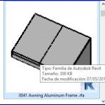 Familias para Revit | 56 Varios | 0041 Toldo de aluminio del marco  .rfa