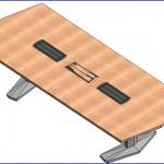 Familias para Revit | 56 Varios | 0145 Coalesse E TABLA facetadas de base de aluminio (iii)  .rfa
