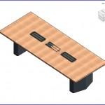 Familias para Revit | 56 Varios | 0159 E Coalesse mesa rectangular  .rfa