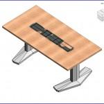 Familias para Revit | 56 Varios | 0160 E Coalesse mesa rectangular de base de aluminio (ii)  .rfa