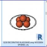 Familias para Revit | 56 Varios | 0230 cristal decorativo BASE amp ESFERAS DE MADERA  .rfa