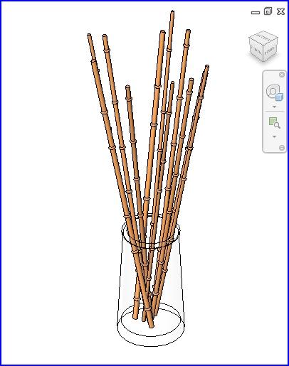 0231 base de cristal decorativo con los palillos de bambu  .rfa